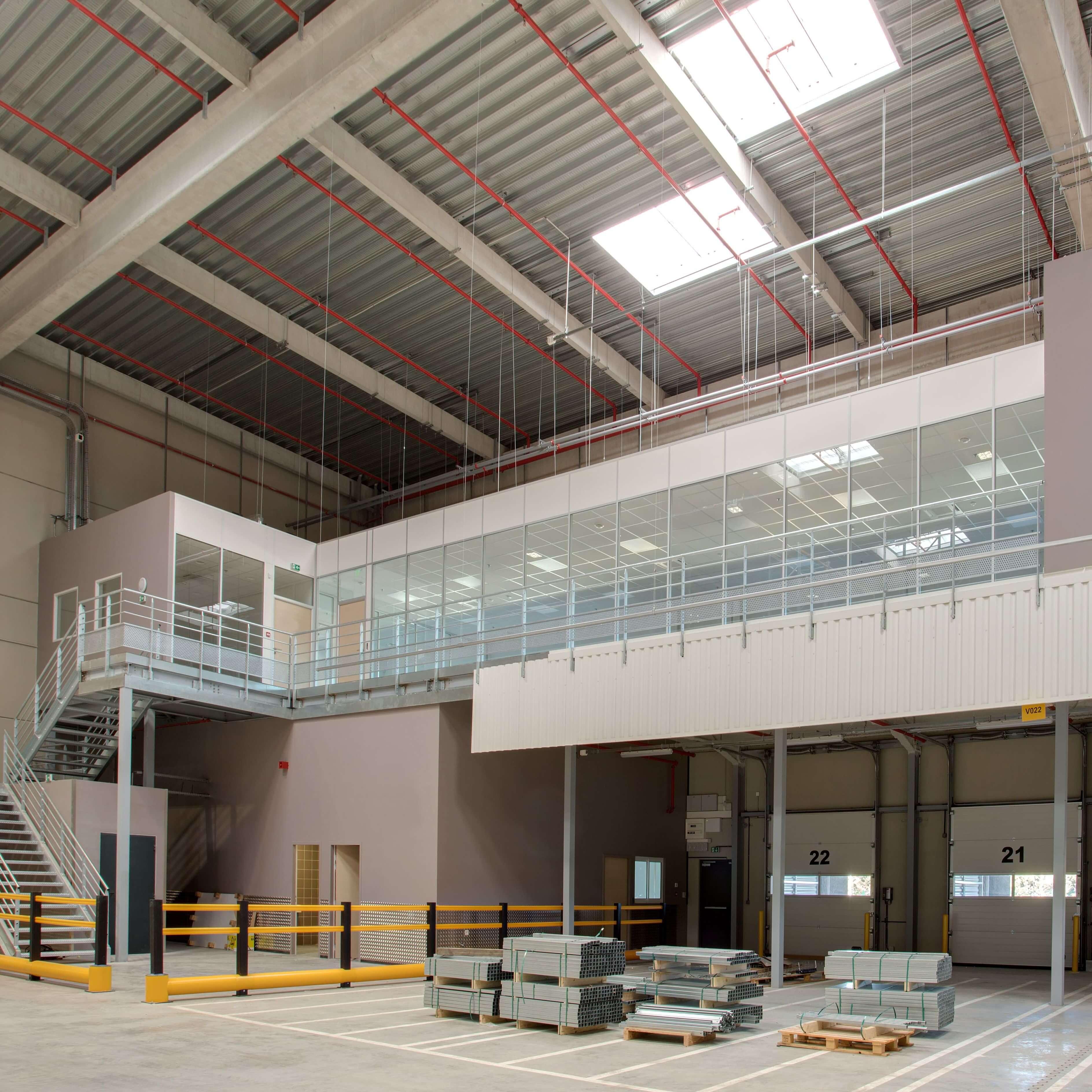 Nos cloisons s'intégrent parfaitement dans des environnements industriels et ateliers de production
